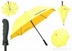 Yellow windproof golf umbrella