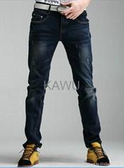 男士懷舊水洗牛仔褲 韓式修身