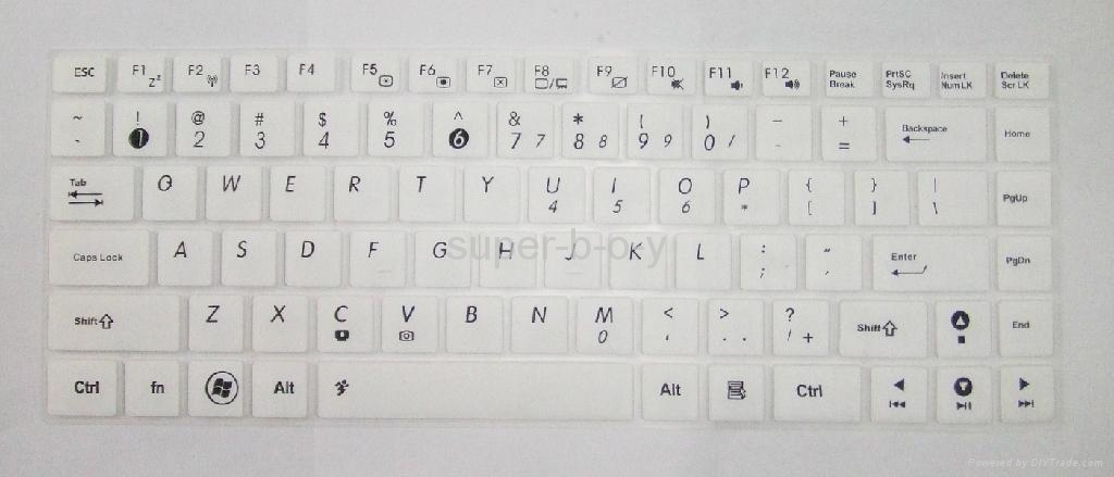 华硕K45笔记本彩色键盘膜 1