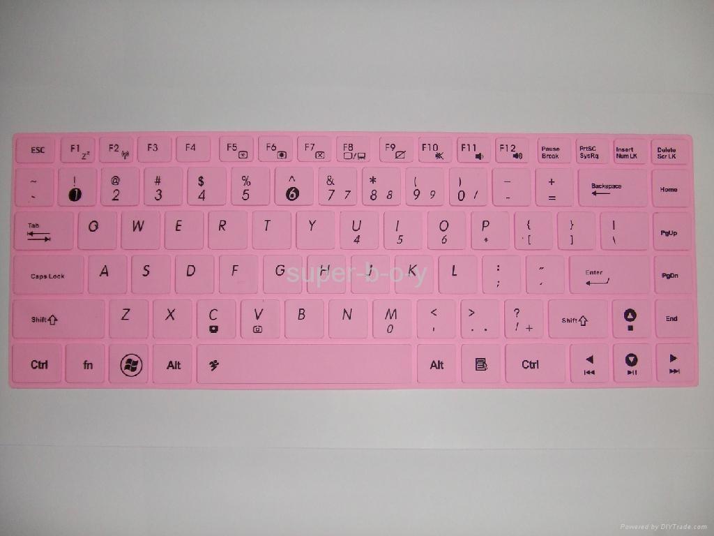 华硕K45笔记本彩色键盘膜 2