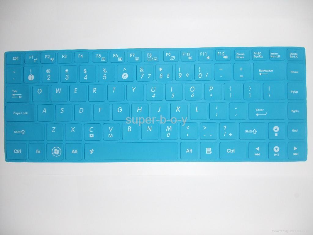华硕K45笔记本彩色键盘膜 4