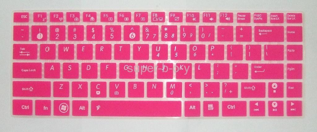 华硕K45笔记本彩色键盘膜 5