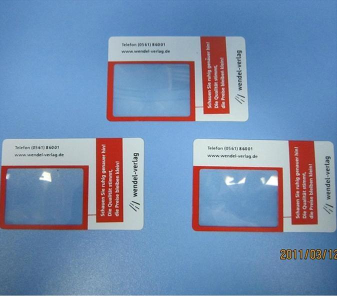 Wendel Verlag name card with magnifier for promotion hw china manufacturer