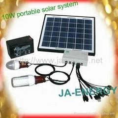 10W太阳能家用便携小系统