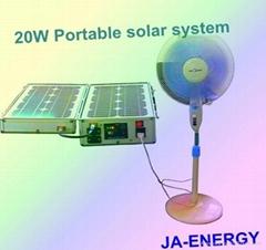 20W太阳能家用便携小系统