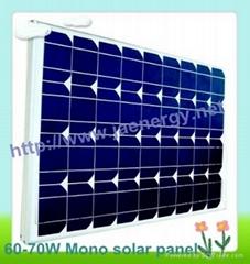 70W單晶太陽能電池板