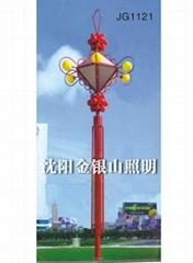 紅中國結景觀燈