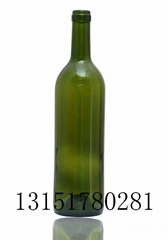 Grape wine bottle