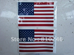Custom USA Flag Sticker with Gloss