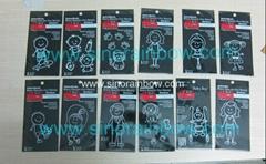 12 designs Fashion Car Family Stickers