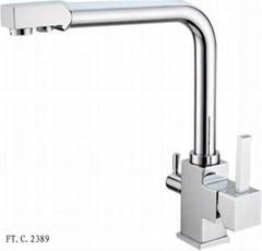 厂家直销新款厨房RO三用净水龙头FTC2389
