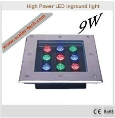 9W square led inground light