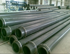 UHMW pipe for sulfate pulp transportation