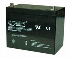 12V55铅酸蓄电池