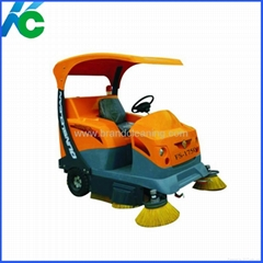 Car style floor sweeper
