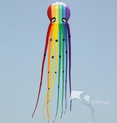 Soft Kite,Rainbow Octopus,8m,WalkinSky,inflatable kite--Leader kite
