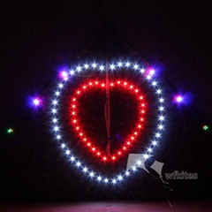 LED Night Kite,3m,Arch Dual Love,[106LED]--Leader Kite