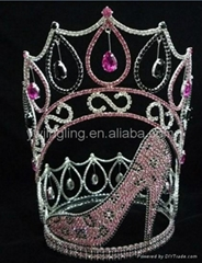 wholesale full round heels pageant crown