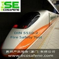 Fire test DIN 5510-2 to railway component – Germany Standard DIN 5510-2