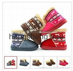 wholesale 2012 latest fashion children's snow boots ,anti-skid snow shoes