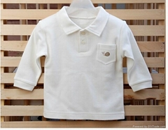 100% organic cotton baby polo shirt,infant polo shirt