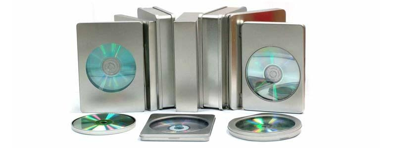 DVD packaging tin box with clear pvc window,metal media packaging 2
