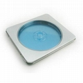 rectangular cd tin case with clear pvc