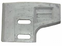 混凝土攪拌機配件,耐磨襯板,攪拌葉,攪拌臂,刮刀/刮板