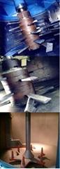 玻璃原料製造混合機配件,耐磨襯板混合攪拌槳葉,壁/底部刮板/刀