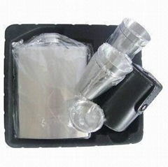 7oz Stainless Steel Hip Flask Set with 4 Cups and a pouring funnel