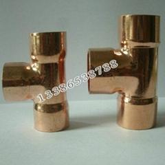 批发供应各种规格紫铜三通系列