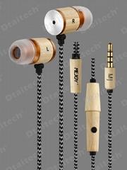 wood earphones