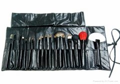 elegant 18pcs cosmetic/makeup brush set