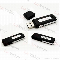 4GB One Buttom Digital Voice Recorder USB Disk MP3 Player