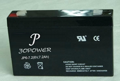 Rechargeable lead acid battery 6V7Ah