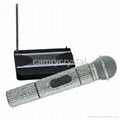 Crystal Rhinestone VHF Handheld Radio Wireless Microphone System