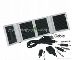 1200MAH大容量锂电池太阳能折叠充电器