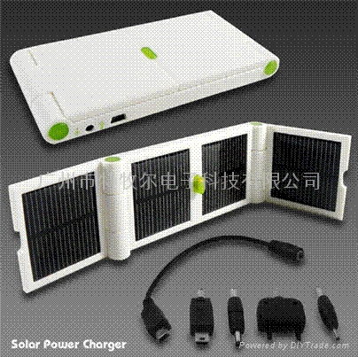 1200MAH大容量锂电池太阳能折叠充电器 3