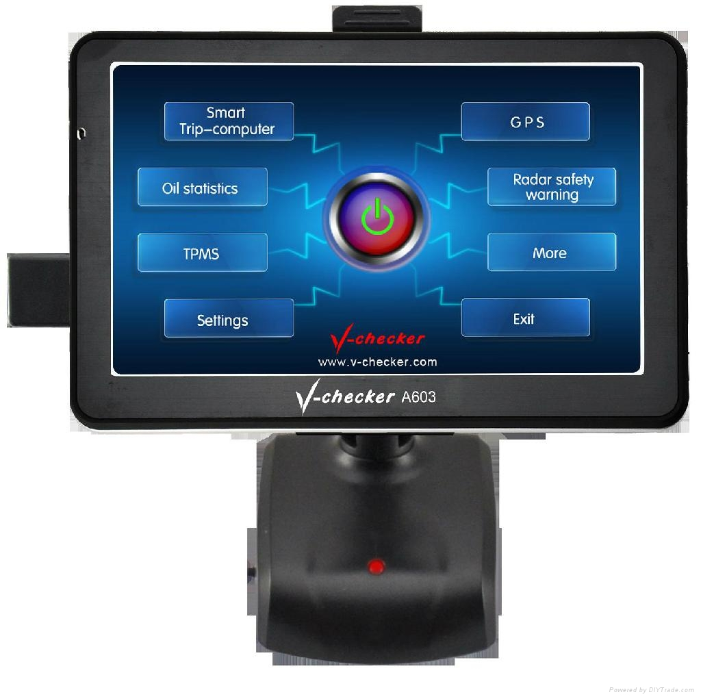 Car Accessory GPS Navigator Radar Warning TPMS Oil display diagnostic equipment 1