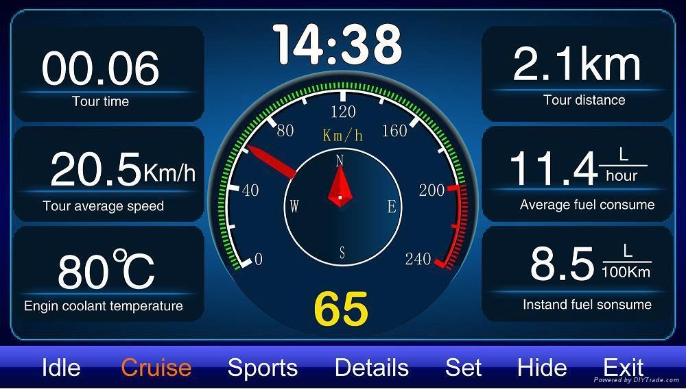 Car Accessory GPS Navigator Radar Warning TPMS Oil display diagnostic equipment 2