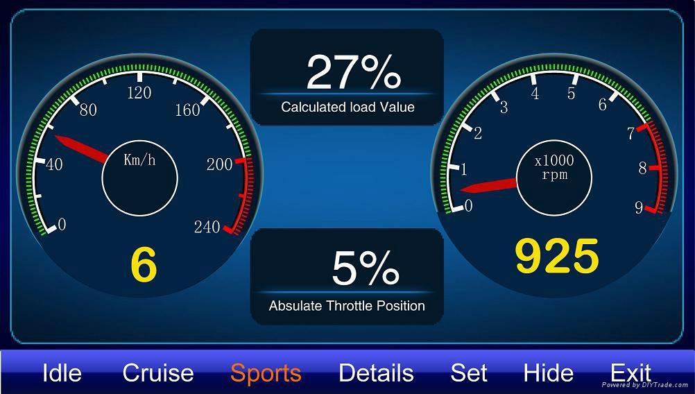 Car Accessory GPS Navigator Radar Warning TPMS Oil display diagnostic equipment 4