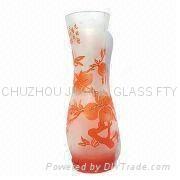 Carved Glass Vase 1