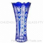 handmade carved high quality glass vase