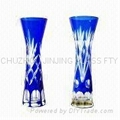Manmade Engraved High Quality Glass Vase
