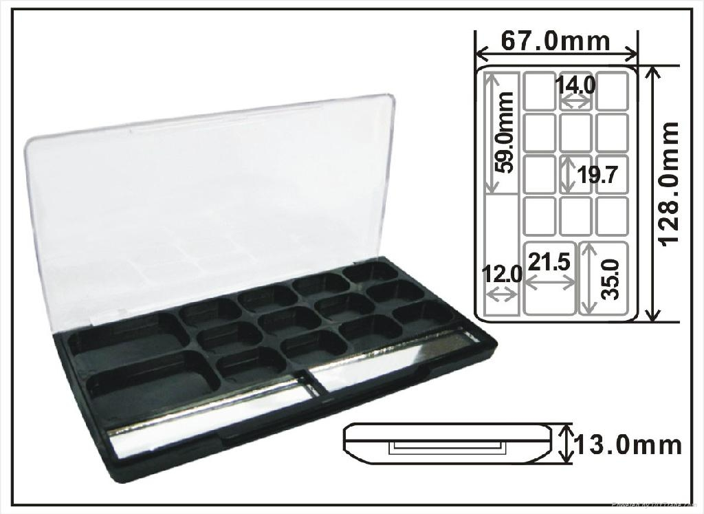 Square shaped empty plastic makeup eyeshadow palette cosmetic packaging  2
