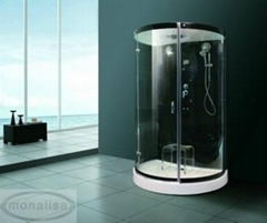 Black style steam room with tempered glass bathroom one pie hot sex video M-8289