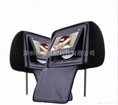 7寸车载DVD头枕显示器