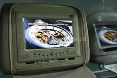 7 寸车载头枕DVD显示播放器带拉链