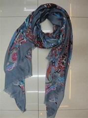 2012 latest twill fan scarf
