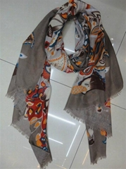2012 the latest export Italy twill cashew flower pattern scarf